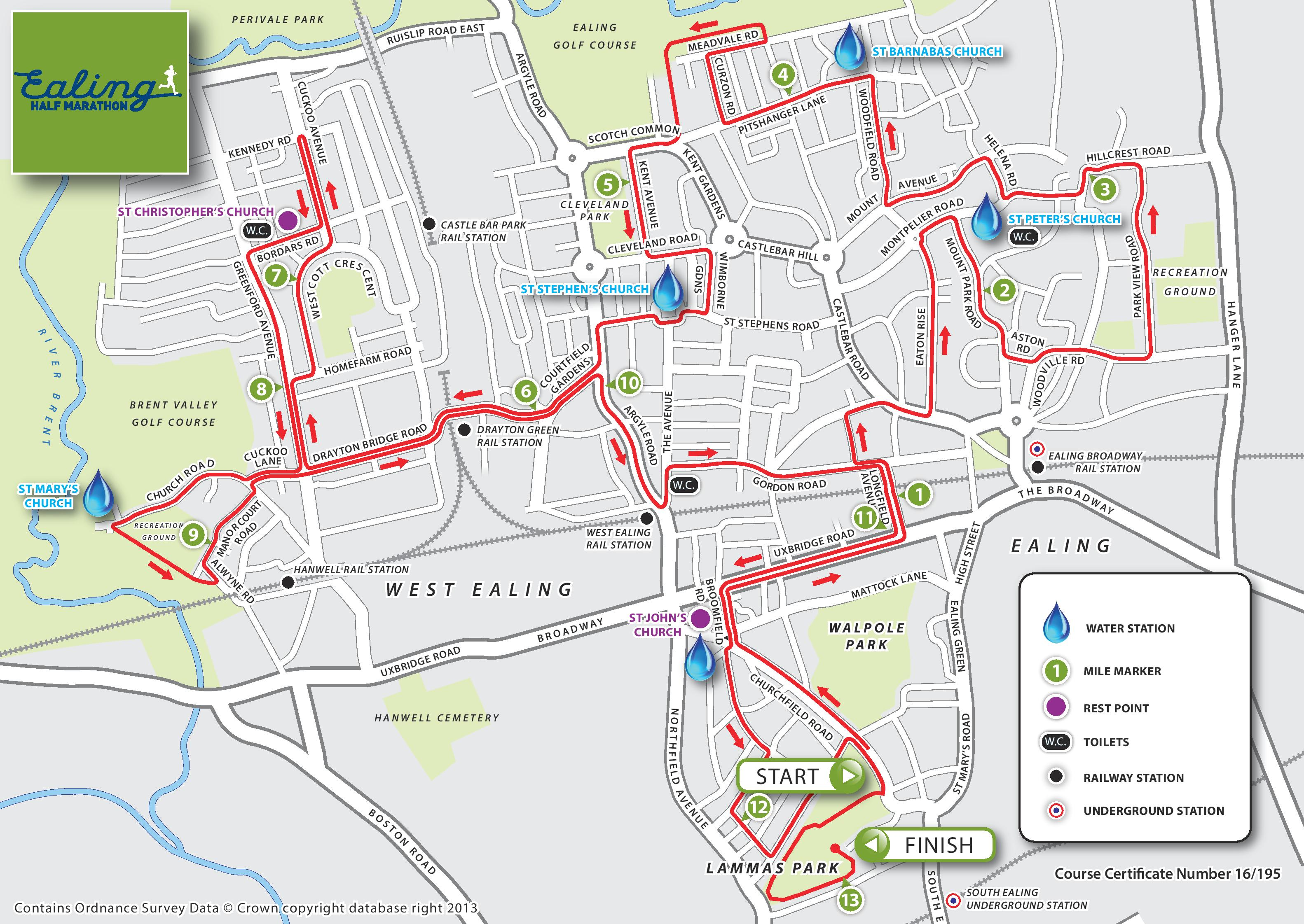 Route Map – Ealing Half Marathon