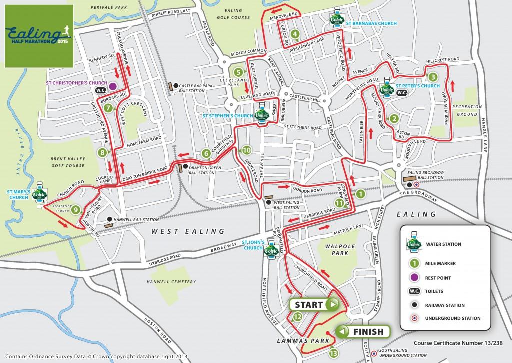 Ealing Half Marathon Route Map-page-001